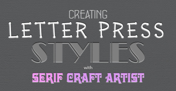 Letter Press Styles In Craft Artist Blog Header