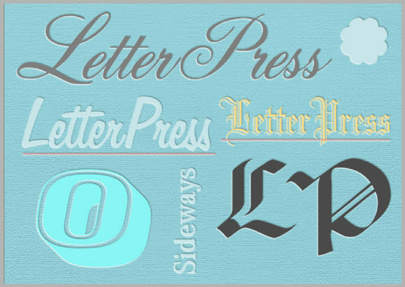 Serif Craft Artist Letter Press Style 1 - Step 6 - Examples