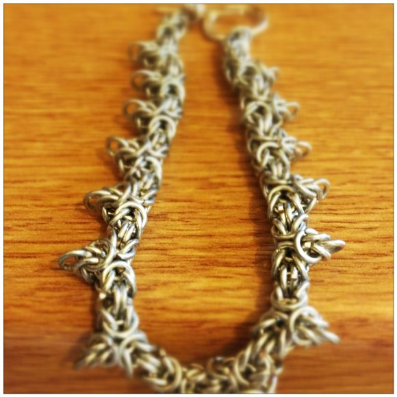 Byzantine With Points Chainmaille