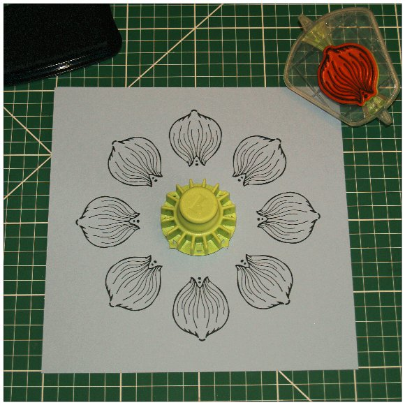 Inkadinkado Stamping Gear Step by Step Techniques - Masking - Step 3