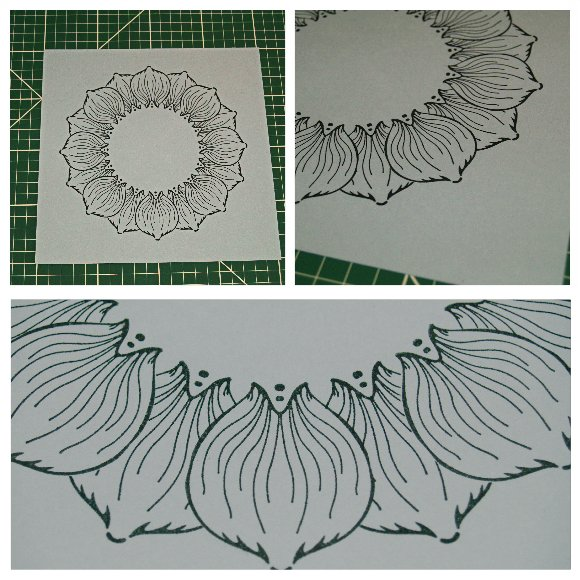 Inkadinkado Stamping Gear Step by Step Techniques - Masking - Steps 6 and 7