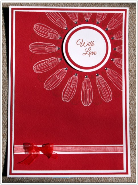 Inkadinkado With Love Card - Finished Card