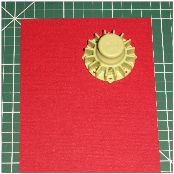 Inkadinkado With Love Card - Step 1 - Positioning the Cog