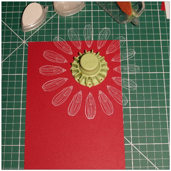 Inkadinkado With Love Card - Step 2 - Stamp the Petals