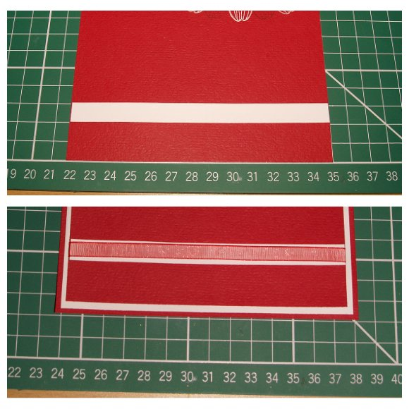 Inkadinkado With Love Card - Step 7 - Applying the Ribbon Strip