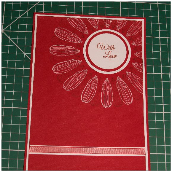 Inkadinkado With Love Card - Step 8 - Apply Circular Sentiment