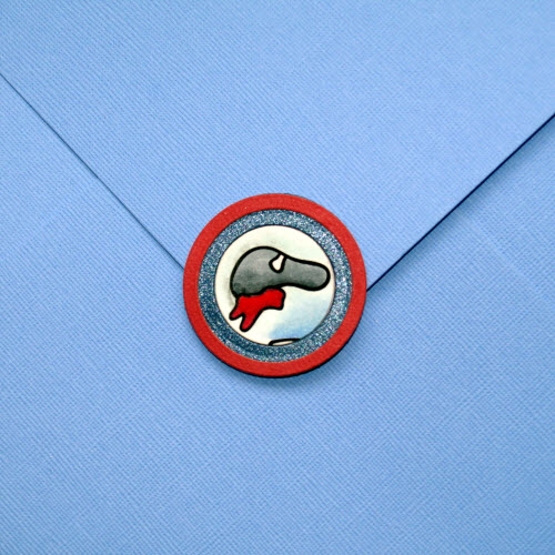 Zombie Greeting Card Envelope Box Detail