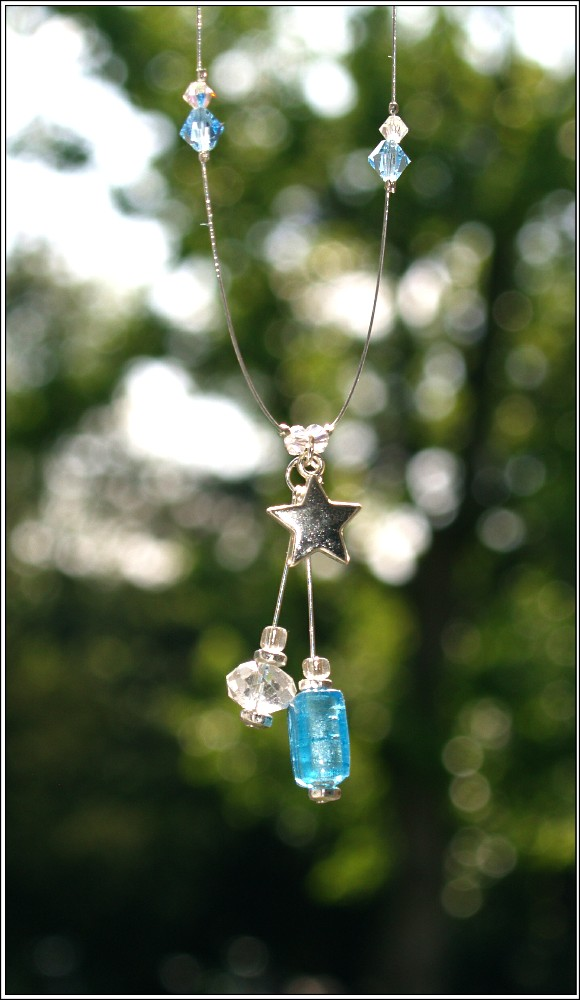 Handmade Crystal Necklace - Finished Piece