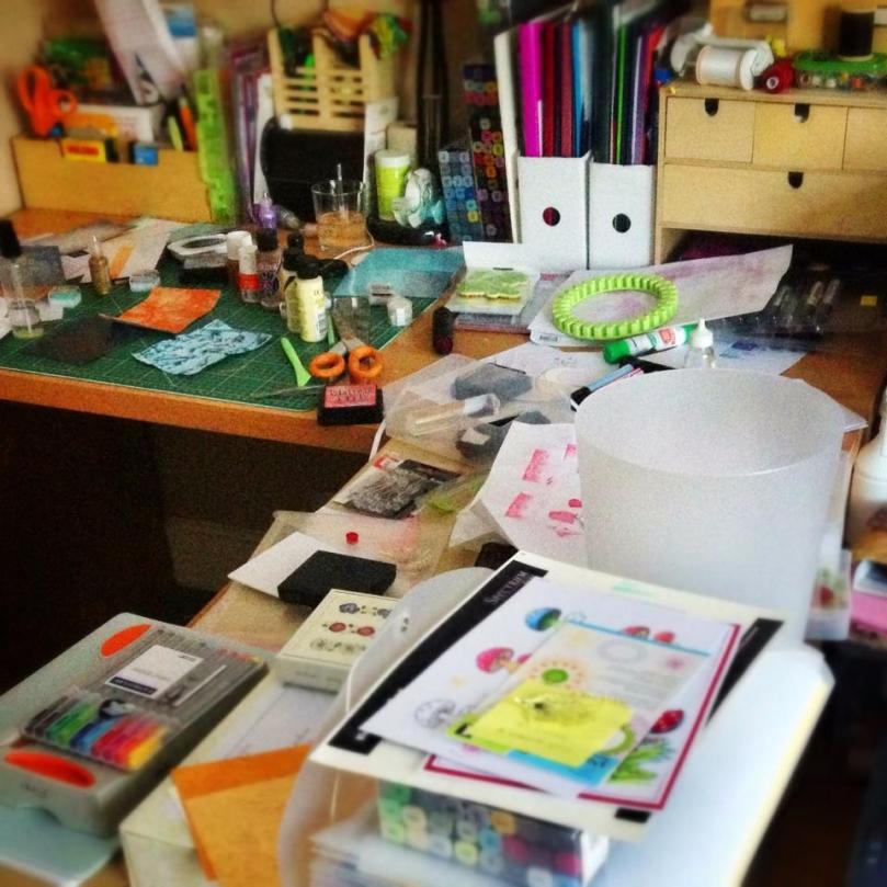 Inkadinkadoodler or Inkadinkadesigner - Messy Desk