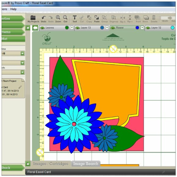 Making A Floral Easel Card With The Cricut Mini - Cricut Craft Room Software Layout