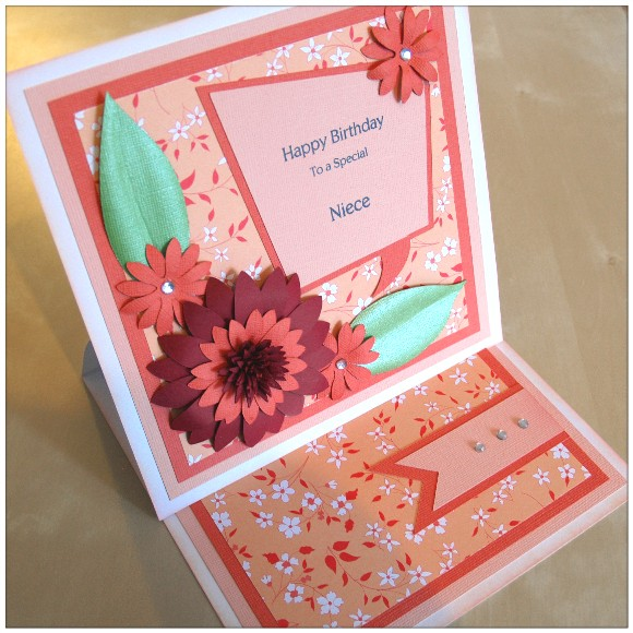 Making A Floral Easel Card With The Cricut Mini - Finished