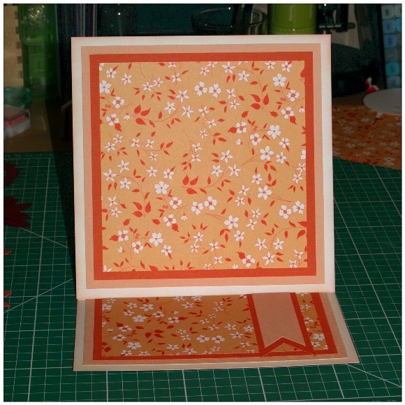 Making A Floral Easel Card With The Cricut Mini - Matting and Layering