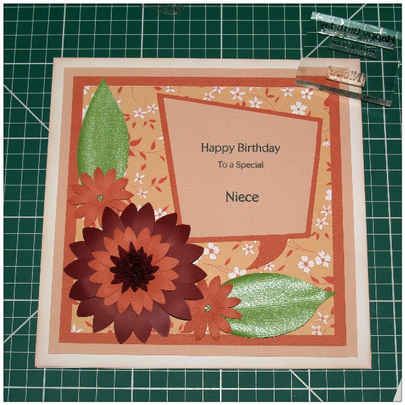 Making A Floral Easel Card With The Cricut Mini - Stamped Image