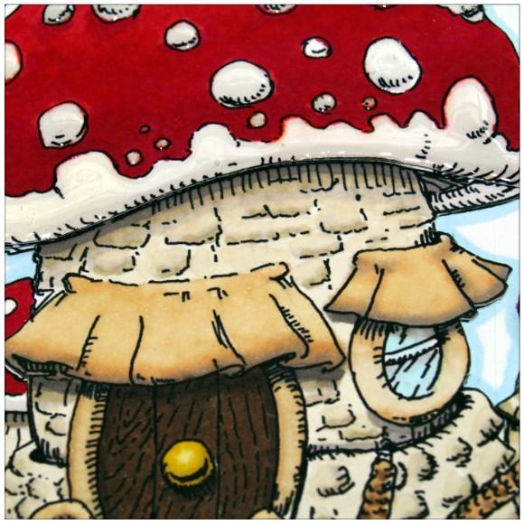 Mushroom House Digi Stamp Brickwork