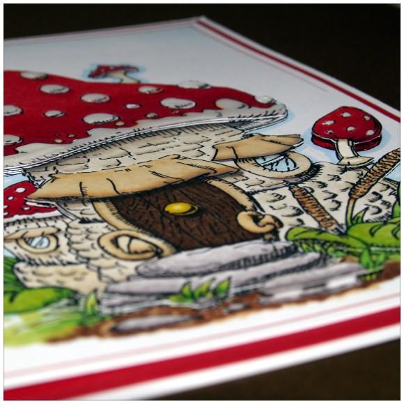 Mushroom House Digi Stamp Layers 2