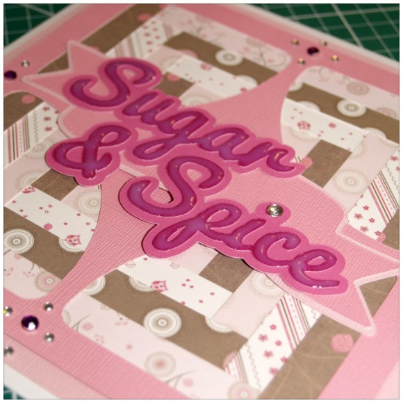 Sugar and Spice Card - Glossy Accent Detail