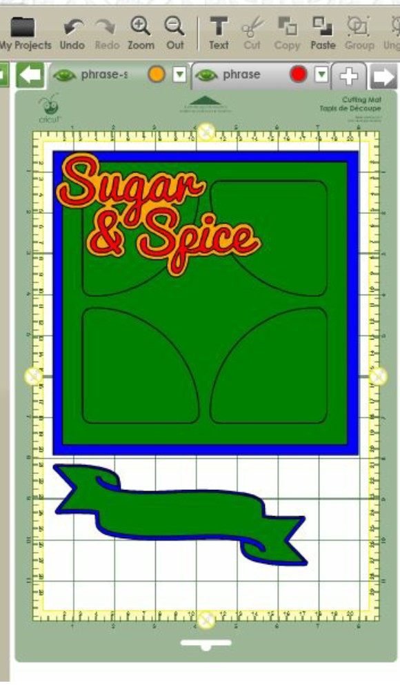 Sugar and Spice Card - In The Cricut Craft Room - The Cutting Layout