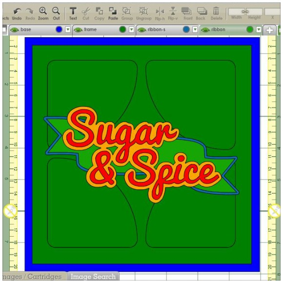 Sugar and Spice Card - In The Cricut Craft Room