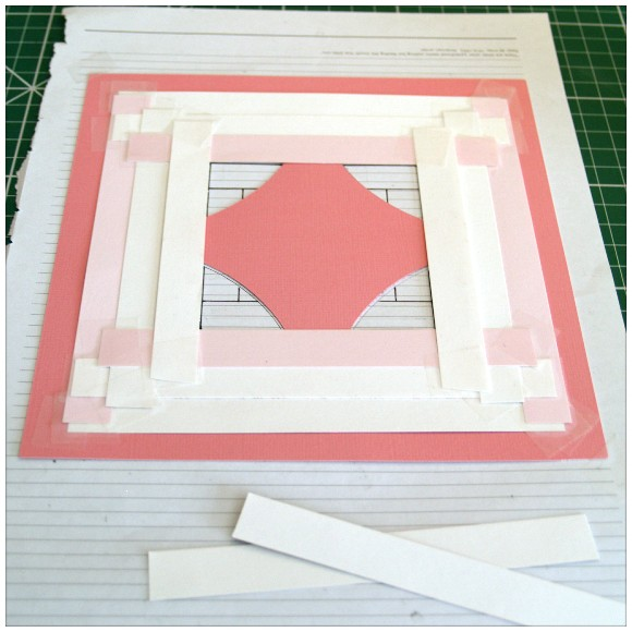 Sugar and Spice Card - Laying the Paper Strips