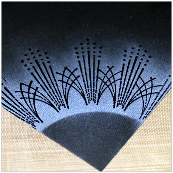 Things To Do With Inkadinkado Stamping Gear - Heat Embossing - Clear Embossing Powder on Black Cardstock with Chalk Inkpad Overlay