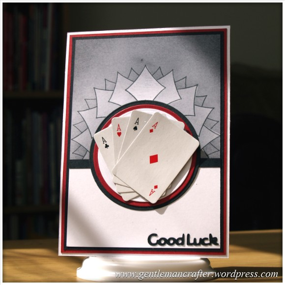 Good Luck Card - Made With The Inkadinkado Stamping Gear System