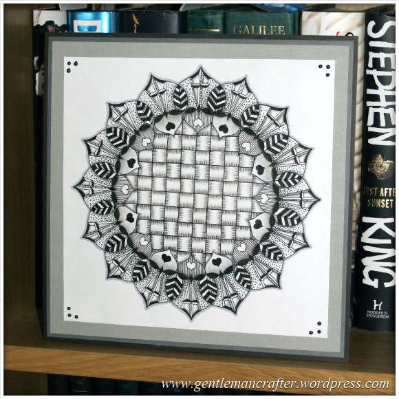 Inkadinkado Stamping Gear Zentangle Finished Piece 2