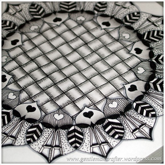 Inkadinkado Stamping Gear Zentangle Finished Piece Close Up