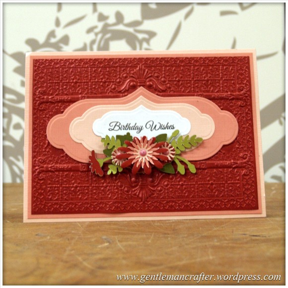 Spellbinders Show Sample 15 - Persian Splendour 3D Embossing Folder