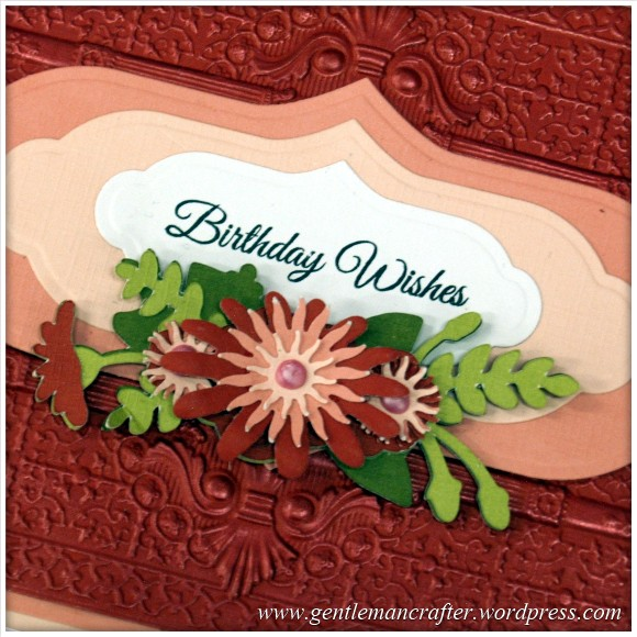 Spellbinders Show Sample Close Up 15 - Persian Splendour 3D Embossing Folder