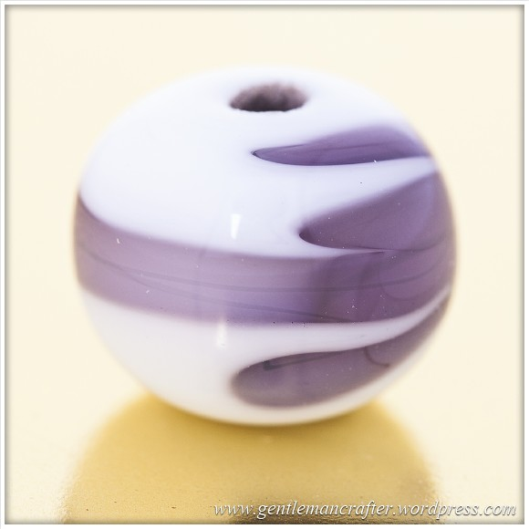 Glass Bead Making - Purple Swirl Bead