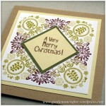 Inkadinkado Stamping Gear - Working With Squares and Rectangles - Folk Style Christmas Card 2