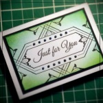 Inkadinkado Stamping Gear - Working With Squares and Rectangles - Emerald Artist Trading Card