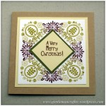 Inkadinkado Stamping Gear - Working With Squares and Rectangles - Folk Style Christmas Card