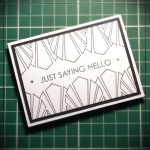 Inkadinkado Stamping Gear - Working With Squares and Rectangles - Card Idea - Art Deco Artist Trading Card