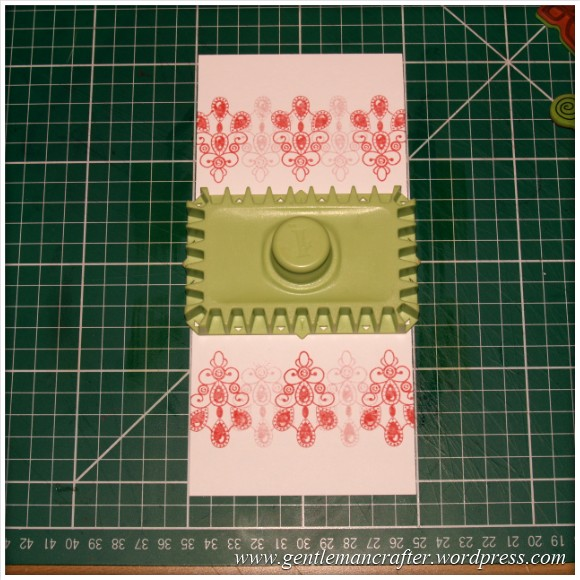 Inkadinkado Stamping Gear - Working With Squares and Rectangles - Horizontal Rectangle On Long Card - Stage 1