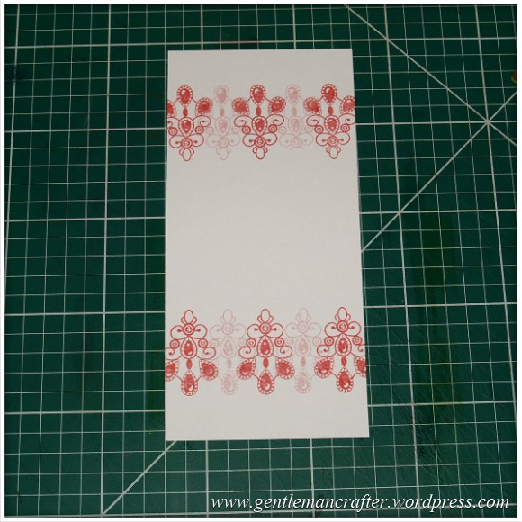 Inkadinkado Stamping Gear - Working With Squares and Rectangles - Horizontal Rectangle On Long Card - Stage 3