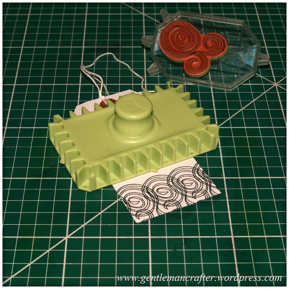 Inkadinkado Stamping Gear - Working With Squares and Rectangles - Horizontal Rectangle On Tag - Stage 1