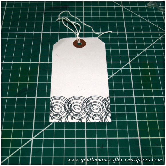 Inkadinkado Stamping Gear - Working With Squares and Rectangles - Horizontal Rectangle On Tag - Stage 2