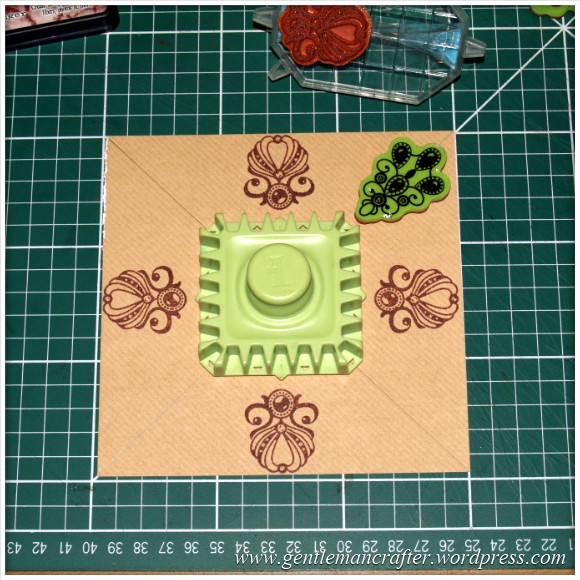 Inkadinkado Stamping Gear - Working With Squares and Rectangles - Straight Aligned - Stage 2