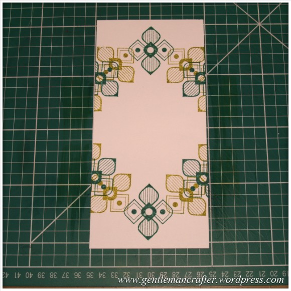 Inkadinkado Stamping Gear - Working With Squares and Rectangles - Twisted Square On Long Card - Stage 4