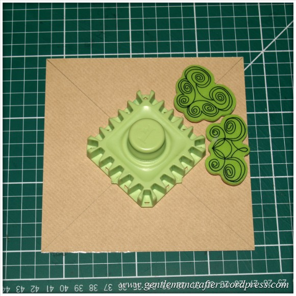 Inkadinkado Stamping Gear - Working With Squares and Rectangles - Twisted - Stage 1