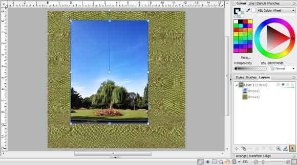 Blending Photos Into A Background In Serif Craft Artist - Adding A Photo