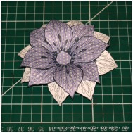 Making Dimensional Flowers with Inkadinkado Stamping Gear - Finished Flower - 10