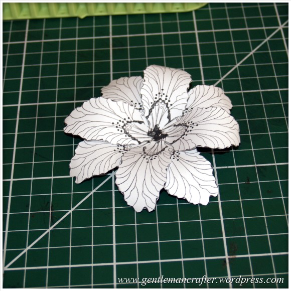 Making Dimensional Flowers with Inkadinkado Stamping Gear - Finished Flower - 3