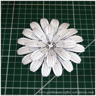 Making Dimensional Flowers with Inkadinkado Stamping Gear - Finished Flower - 5