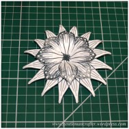 Making Dimensional Flowers with Inkadinkado Stamping Gear - Finished Flower - 7