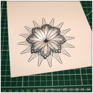Making Dimensional Flowers with Inkadinkado Stamping Gear - Finished Flower - 8