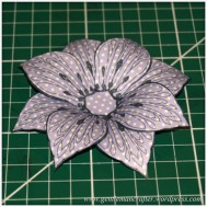 Making Dimensional Flowers with Inkadinkado Stamping Gear - Finished Flower - 9