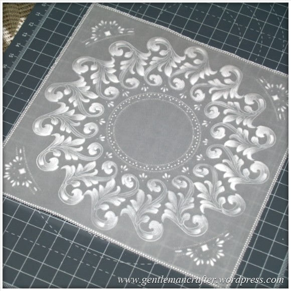 Parchment Craft With The Inkadinkado Stamping Gear - Finished Piece
