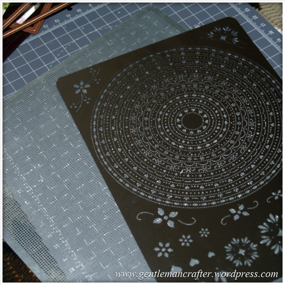 Parchment Craft With The Inkadinkado Stamping Gear - Grids